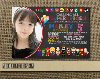 Superhero Girl Invitation, Superhero Girl Birthday, Superhero Girl Party, Superhero Girl Card, Superhero Girl Printable, Superhero Girl