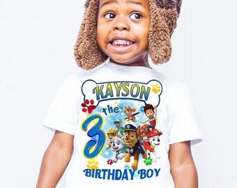 Paw Patrol Birthday shirts, Birthday shirt, Birthday girl shirt, Personalized shirts, shirts for family members, birthday shirts, gift B118