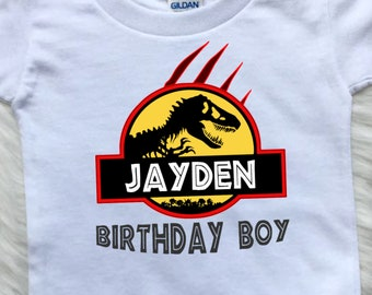8ffd237e Jurassic Park Birthday Boy, Dinosaur Birthday Shirt, Birthday Girl T-Rex  Shirt, Custom Birthday Tees, Personalized Shirt for Family B161