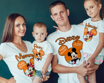 DISNEY Vacation Family Shirts, Disney Custom Shirts, Matching Disney Family Shirts 2018, T-shirts Disney Vacation, Disney Trip Tees B113