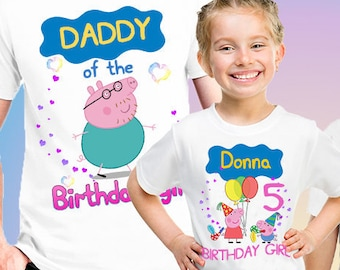 Peppa Pig Birthday Shirt, Birthday Peppa, Birthday party shirt, Matching Family Tees, Peppa Pig Family Shirts, Birthday Shirt, Clothing B111