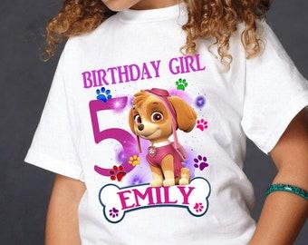 45eac4395ae Paw patrol birthday shirt