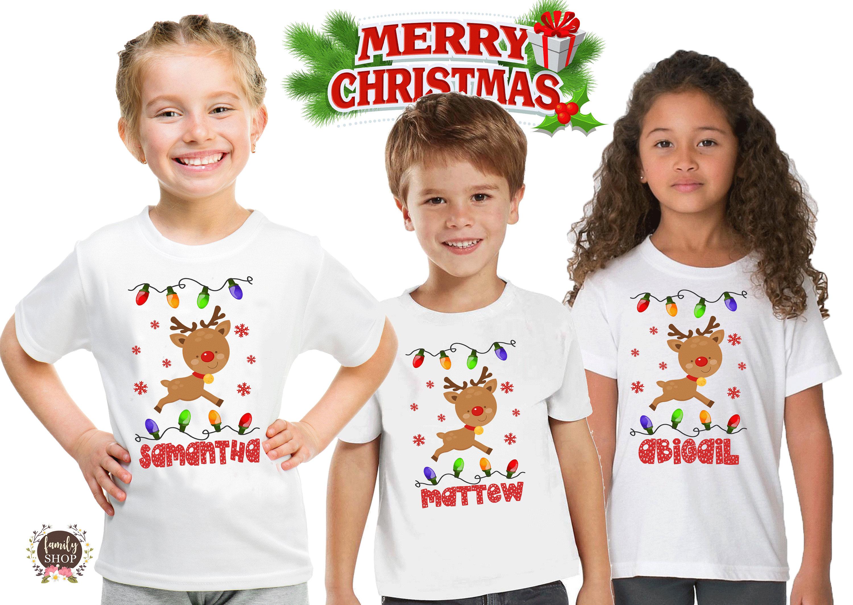2b4ec33935ed Christmas Kids Pajama Shirt Holiday Tees Unisex Shirt Family