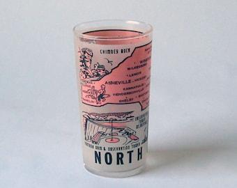 Vintage North Carolina Souvenir Juice Glass