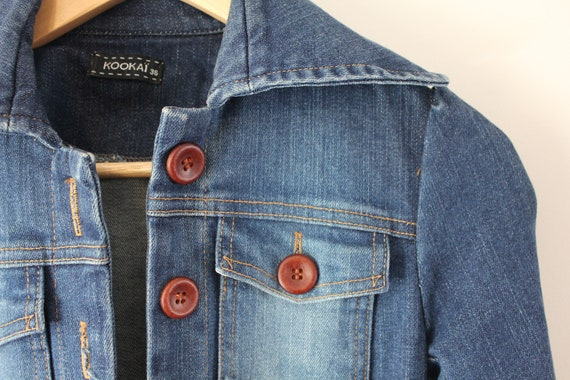 0aac1e7845 Kookai stretch denim trench vintage look distressed with belt