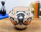 Signed Goldie Hayah Acoma Pueblo Pottery