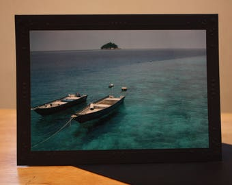 Tropical Ocean Photo Mount Blank Greeting Card