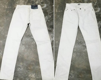 1eaf8b62fa8a8 Naked   Famous jeans DISTRESSED white size 30 made in Japan   slim fit denim  designet Japanese fashion