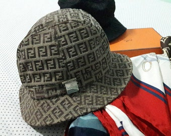 dae33ac5e2fb3 90s Fendi Monogram Bucket hat Made in Italy   luxury fashions unisex brands  fisherman hats street fashions