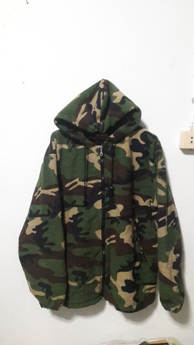 90s Stussy Outdoor Fleece Camouflagde size xl heavy type  3c538a45b37c