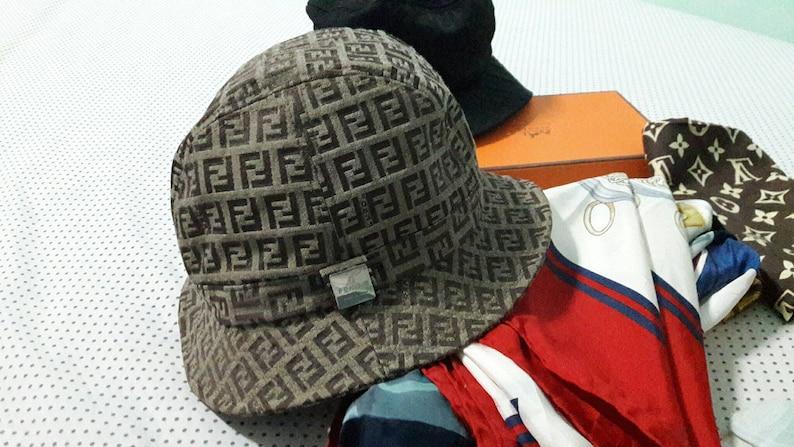 4cbf870358411 90s Fendi Monogram Bucket hat Made in Italy   luxury fashions