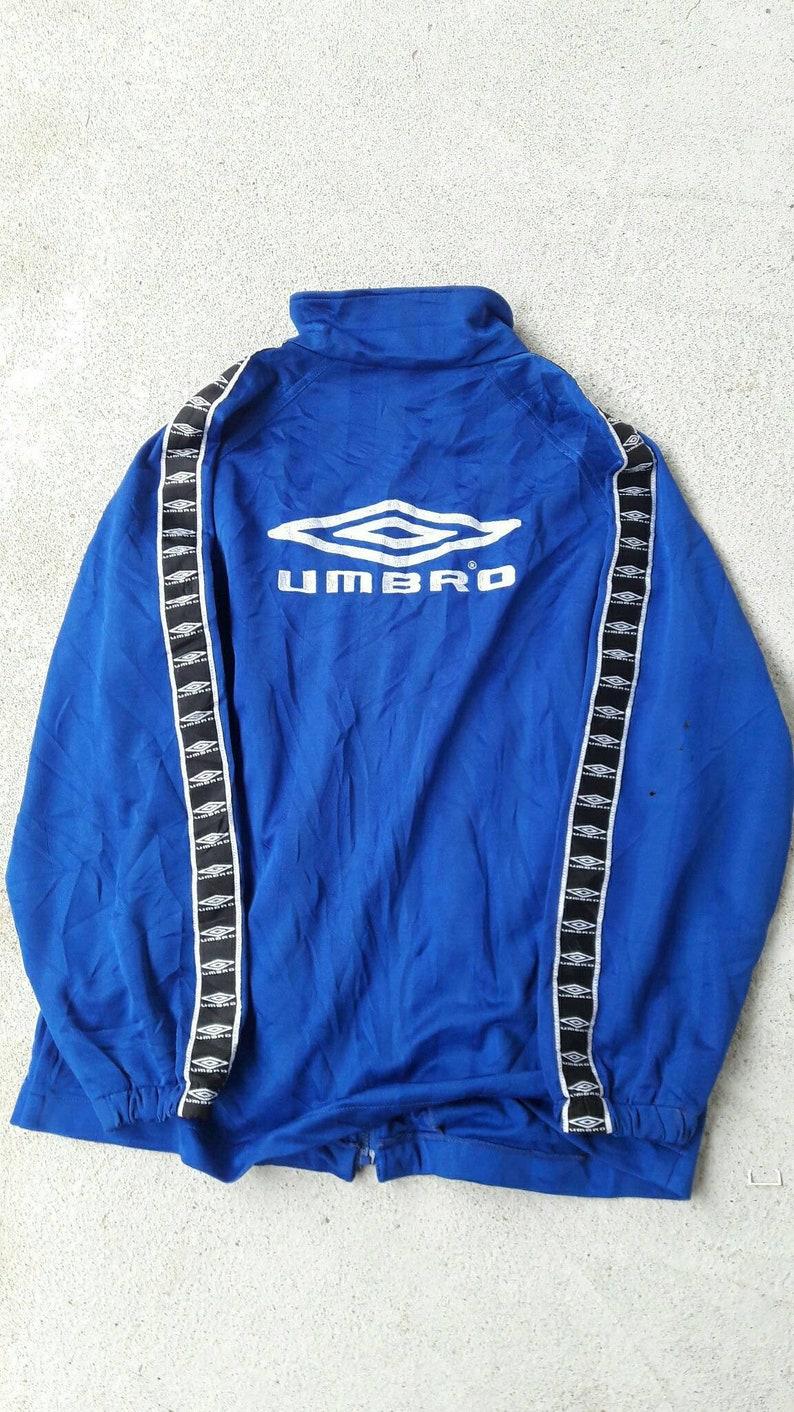 6844bc0fbd5 Vintage Umbro Track jacket stripes logo size M /sportwear   Etsy