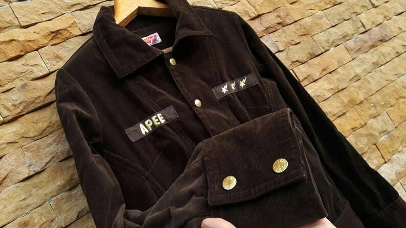 f5c09577effb A bating ape BAPE Trench Coat Corduroy womens sz fit M Japan