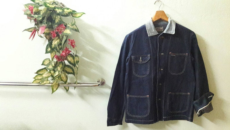 9a2682941fe Vintage Edwin Workwear Jacket SELVEDGE size M made in Japan