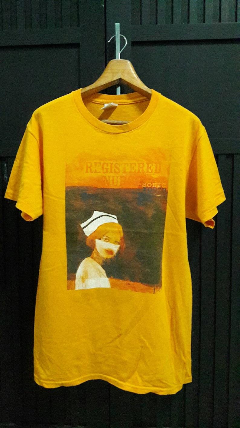 04d9c71d8 Vintage Sonic Youth Registered Nurse promo Album t shirts | Etsy