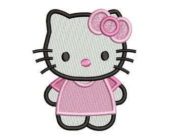 Kitty Embroidery Design, Cute Kitten, Fill Stitch Kitty, Cat, Mini Kitty, Machine Embroidery, 3 Sizes, Instant Download, S522-20