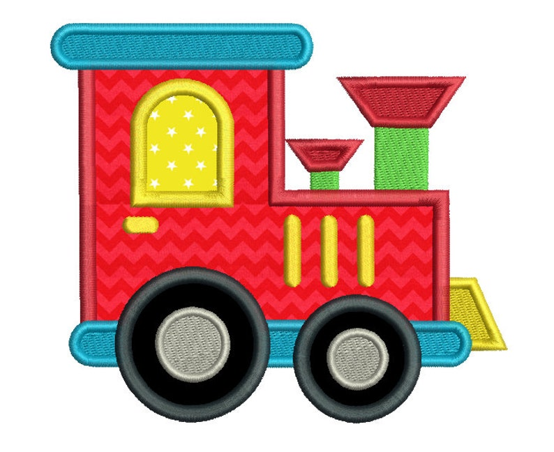 Toy Train Applique Embroidery Design Locomotive Machine Etsy