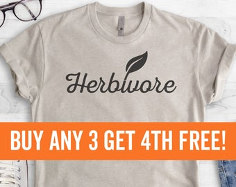 Herbivore T-Shirt, Ladies Unisex Crewneck Shirt, Cute Vegan Shirt, Funny Vegan T-shirt, Gift, Short & Long Sleeve T-shirt