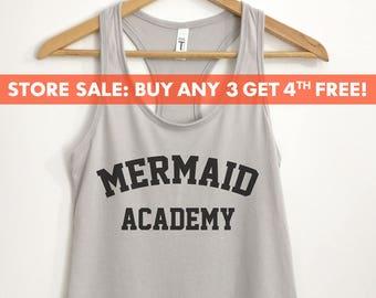 2f97109ee Mermaid Academy Tank Top, Cute Ladies Beach Tank, Vacation Tank,  Bachelorette Party