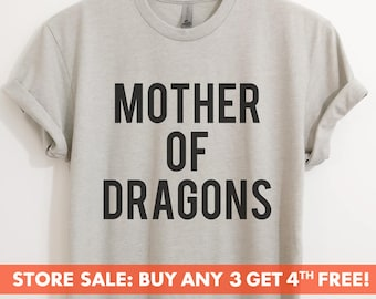 Mother Of Dragons T-Shirt, Ladies Unisex Crewneck Shirt, Dragon T-shirt, Mom T-shirt, GOT, Short & Long Sleeve T-shirt