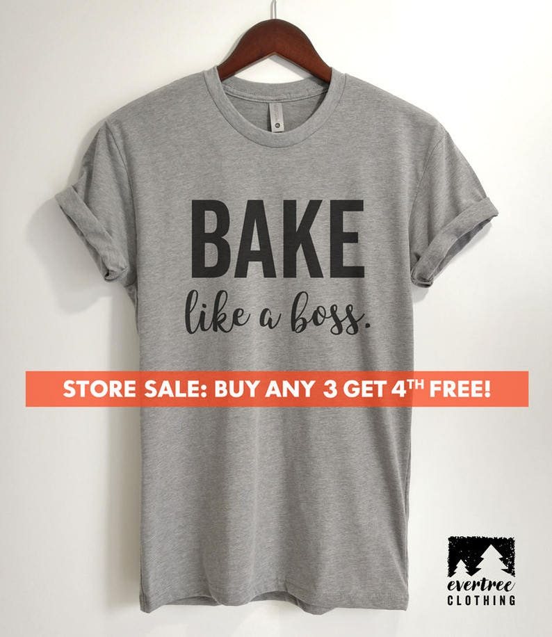 a02a2bea7 Bake Like A Boss T-shirt Ladies Unisex T-shirt Girl Boss   Etsy