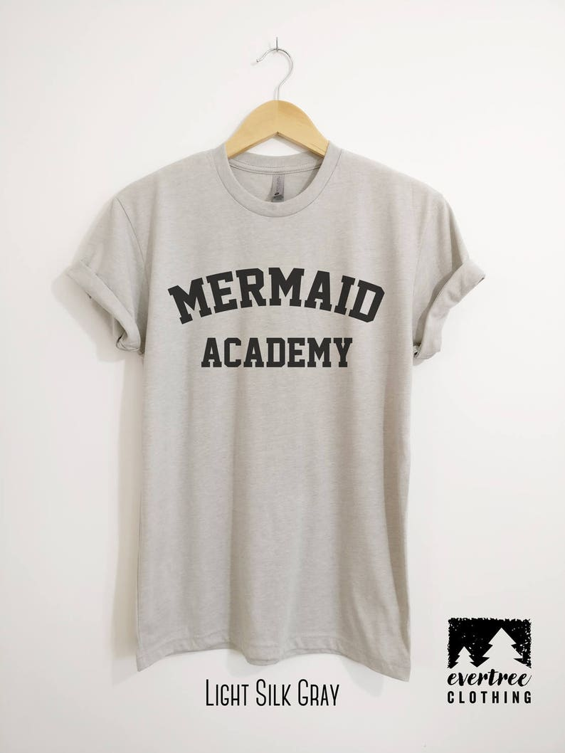 855fee867 Mermaid Academy T-Shirt Ladies Beach T-shirt Summer Shirt | Etsy