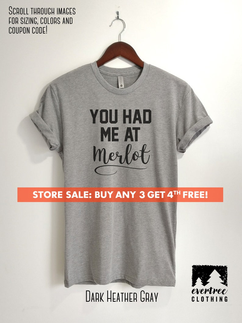 ef27b13d You Had Me At Merlot T-shirt Ladies Unisex Crewneck Shirt   Etsy