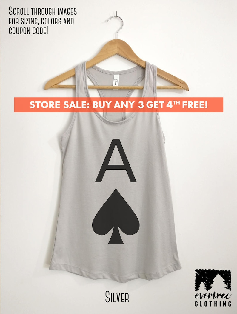 da9f83c09e7803 Ace Of Spades Tank Top Womens Cute Tank Top Workout Shirt