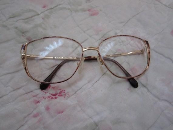 Fun pair of 80's/90's metal  glasses with enamel d
