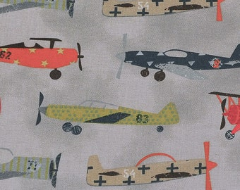 Autplanes and Biplanes Novelty fabric