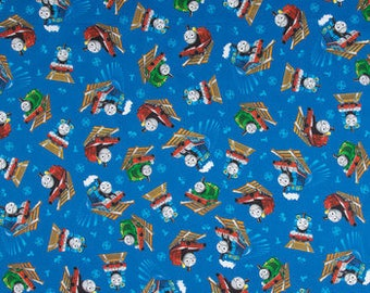 Thomas the Train fabric by Cotton Calico