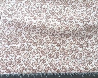 Floral Buttercream Cotton fabric
