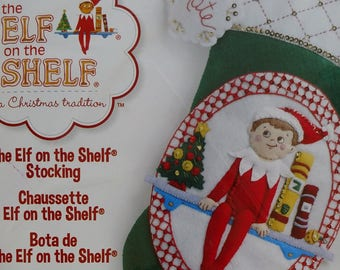Bucilla Felt Christmas Stocking Kit - Elf On The Shelf at His Scout Elf Post