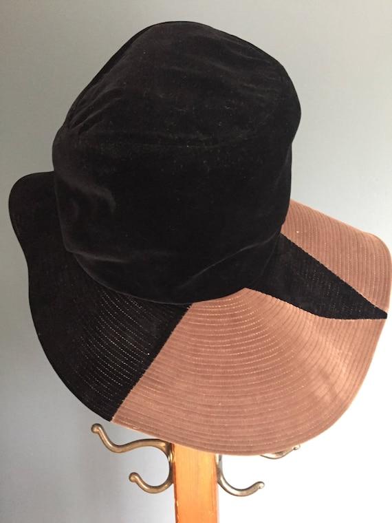 Vintage, Wide Brim, Velvet Hat - image 2