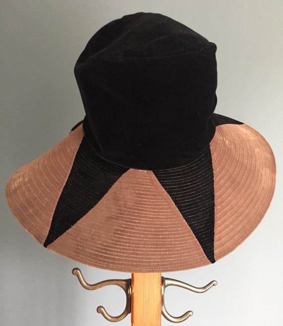 Vintage, Wide Brim, Velvet Hat - image 3
