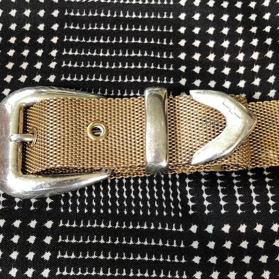 1980s Vintage Ralph Lauren Metal Mesh Belt with S… - image 4