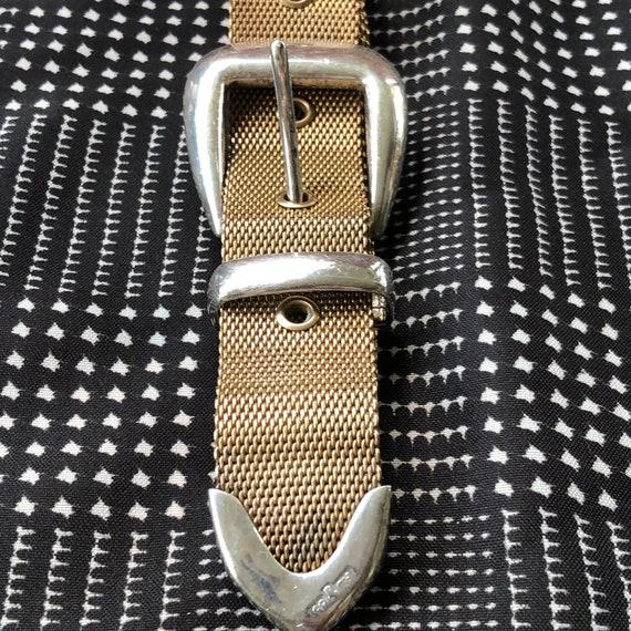 1980s Vintage Ralph Lauren Metal Mesh Belt with S… - image 6