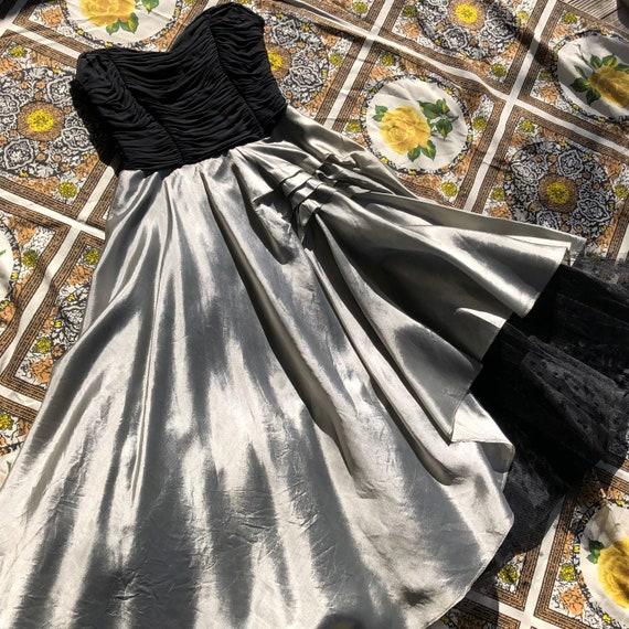1950s cocktail party dress | Vintage dress | Silve
