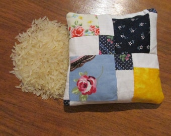 Small Hand warmer/ Patchwork heat pad/ Heat pack/ Ice pack