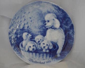 Mothers Day 1971 blue collector plate
