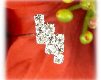 6 PK Clear Crystal & Diamond Floral Jewel