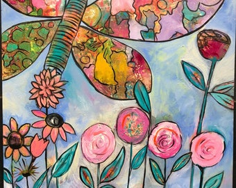 """Original Art Painting - Chelsea Garden - 24"""" X 36"""""""