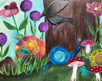"""Original Painting - The Forest Floor - 20"""" X 24"""" X 2"""""""