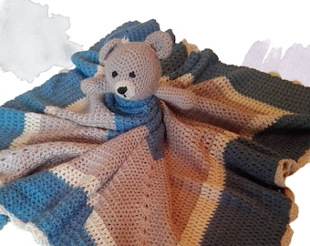 Bear lovey blanket