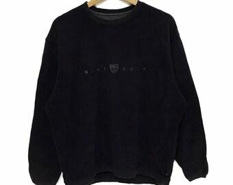 137eda7152 Vintage NIKE GOLF Swoosh Logo Crewneck Sweatshirt Sweater Jumper Pullover  Runner Gym Pinwheel