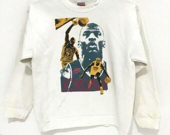 9c6fca20831d Vtg NIKE MICHAEL JORDAN Swoosh Logo nba slam dunk made in usa sweatshirt  Air Jordan