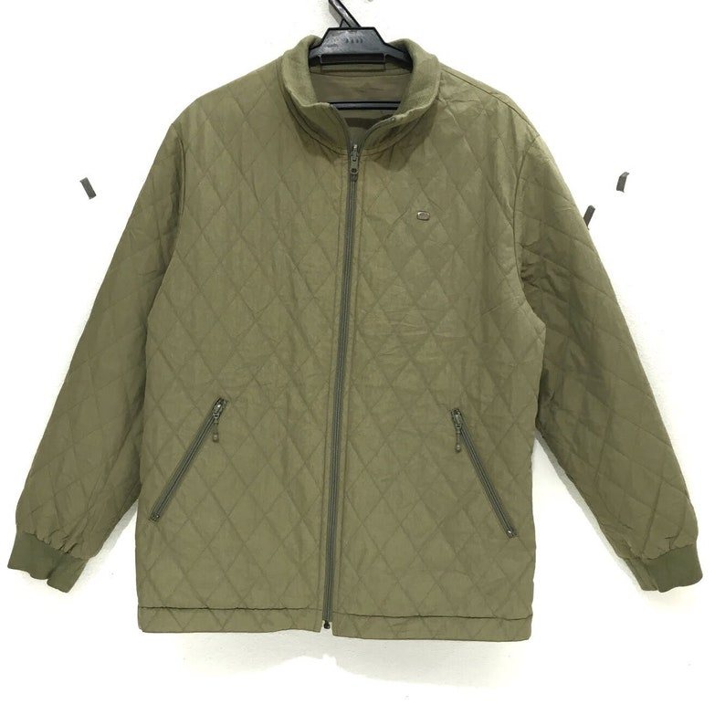 dbbcb2b4d20 LACOSTE PARIS matelassé réversible veste Zip Up Made In Japon