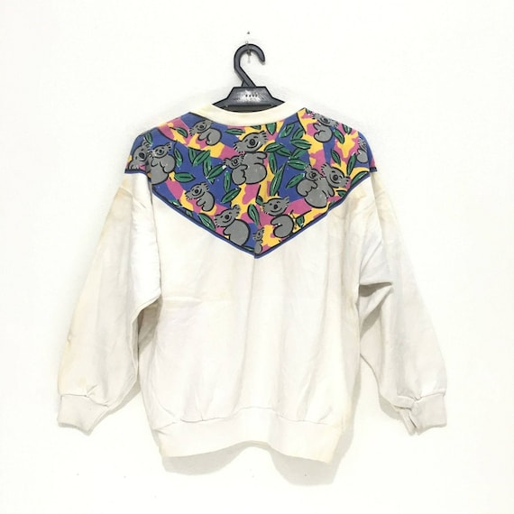 Koala Scarf Under KEN Made Vintage Down Sweatshirt DONE AUSTRALIA 90s Jumper Bear In WXggq0F