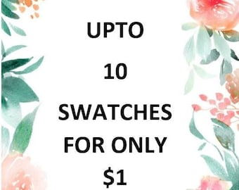 Order up to 10 swatches of your choice for only 1usd, Fabric samples, Silk and Cotton
