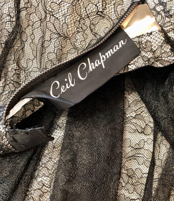Vintage Deadstock 1950's CEIL CHAPMAN Lace Overla… - image 4